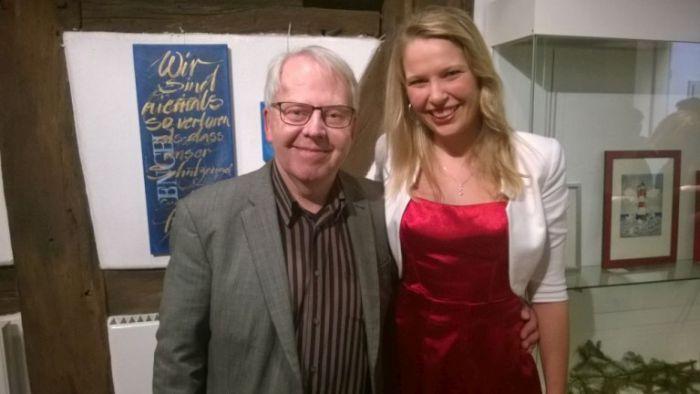 Mia Ohlsen und ZDF Schauspieler Harald Maack (ZDF Notruf Hafenkante) im Dez. 2016 (Foto copyright: Grobbin)